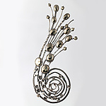 Silver & Stone Brooch by Desiree DeLong