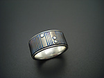 Silver & Titanium Wedding Band by Tavia Brown