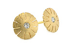 Gold & Stone Earrings by Catherine Iskiw