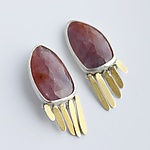 Gold & Stone Earrings by Moira Lime