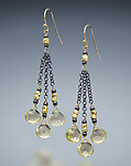 Silver & Stone Earrings by Judy Bliss