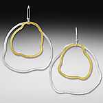Gold & Silver Earrings by Suzanne Q Evon