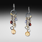 Silver & Stone Earrings by Suzanne Q Evon