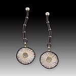 Gold, Silver & Pearl Earrings by Susan Mahlstedt