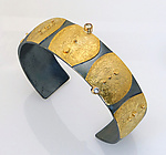 Gold, Silver, & Stone Bracelet by Sydney Lynch