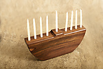 Wood Menorah by Brad Reed Nelson