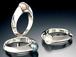 Silver & Pearl Ring by Kathleen Lynagh