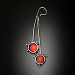 Silver & Coral Earrings by Aleksandra Vali