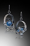Silver & Stone Earrings by Laura  Cardwell