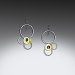 Gold & Silver Earrings by Laura  Cardwell