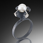 Silver & Pearl Ring by Samantha Freeman
