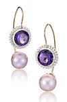 Silver, Stone, & Pearl Earrings by Samantha Freeman