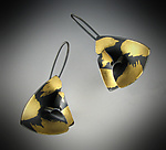 Gold & Silver Earrings by Judith Neugebauer