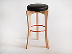 Wood Stool by Todd  Bradlee