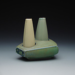 Ceramic Salt and Pepper Shakers by Frank Saliani