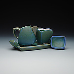 Ceramic Cream and Sugar Set by Frank Saliani