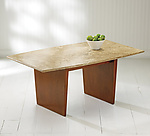Wood & Marble Coffee Table by Ken Reinhard
