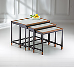 Wood & Glass Nesting Tables by Ken Reinhard