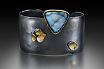 Gold, Silver, & Stone Bracelet by Lori Gottlieb