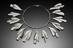 Silver Necklace by Lori Gottlieb
