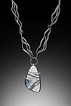 Silver & Stone Necklace by Lori Gottlieb