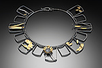 Gold & Silver Necklace by Lori Gottlieb