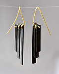 Gold & Silver Earrings by Hilary Hachey