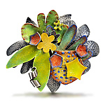Enameled Brooch by Wendy McAllister