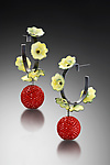 Enameled Earrings by Lauren Schlossberg
