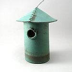 Ceramic Birdhouse by Cheryl Wolff