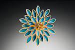 Vermeil & Resin Brooch by Lisa  Cimino