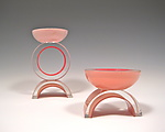 Art Glass Candleholders by Benjamin Silver