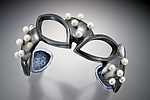 Silver & Pearl Bracelet by Kristen Lee