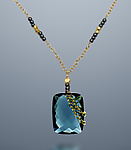 Gold & Stone Necklace by Judy Bliss