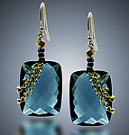 Gold & Stone Earrings by Judy Bliss