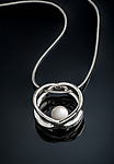 Silver & Pearl Neckalce by Chi Cheng Lee