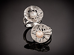 Silver & Pearl Ring by Chi Cheng Lee