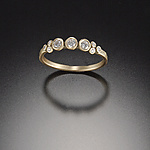 Gold & Stone Wedding Band by Ananda Khalsa
