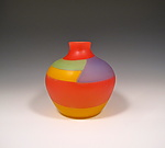 Art Glass Vessel by Benjamin Silver