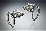 Silver & Pearl Earrings by Kristen Lee