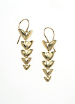 Gold Earrings by Analya Cespedes
