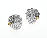 Gold & Silver Earrings by Analya Cespedes
