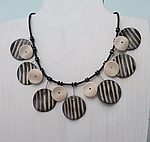 Ceramic Necklace by Klara Borbas