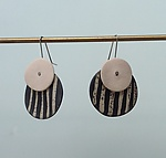 Ceramic Earrings by Klara Borbas