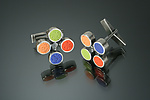 Polymer Clay Cuff Links by Lou Ann Townsend