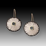 Gold & Silver Earrings by Susan Mahlstedt