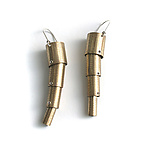 Brass Earrings by Connie Verrusio