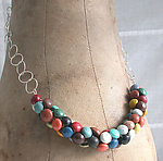 Mixed-Media Necklace by Connie Verrusio