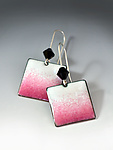 Enameled Earrings by Reiko Miyagi