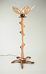 Wood Floor Lamp by Charles Adams